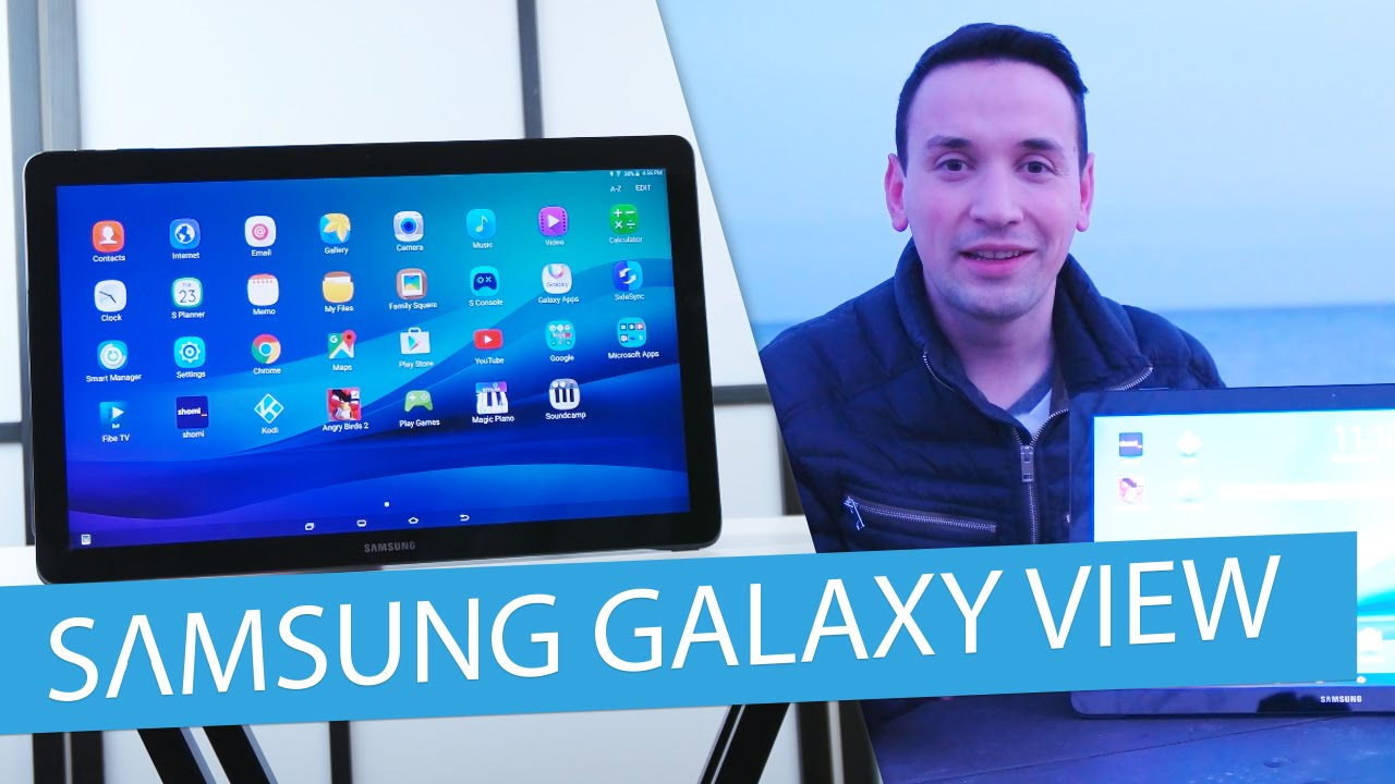 Grote Tablet Samsung Galaxy View Review 18 4 Inch Tablet Best Tablet 2016