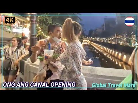 Amazing New Bangkok Walking Street - Night Life Chinatown - Saturday Evening - Khlong Ong Ang Canal