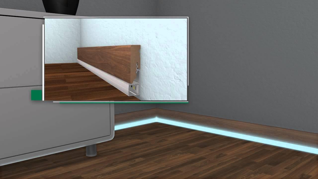 led sockelleisten selber bauen led beleuchtung selber. Black Bedroom Furniture Sets. Home Design Ideas