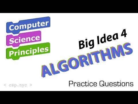 AP Computer Science - Big Idea 4 Algorithms - Questions