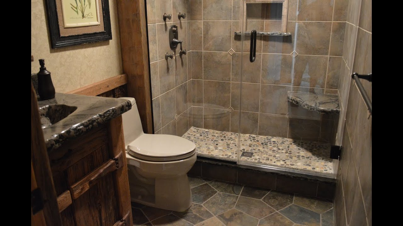 Bathroom remodeling with barnwood youtube for Bath remodel pictures