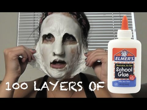 Thumbnail: 100 LAYERS OF... GLUE ON MY FACE?!