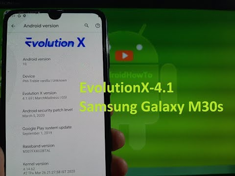 EvolutionX 4.1 for Samsung Galaxy M30s GSI ROM Android 10
