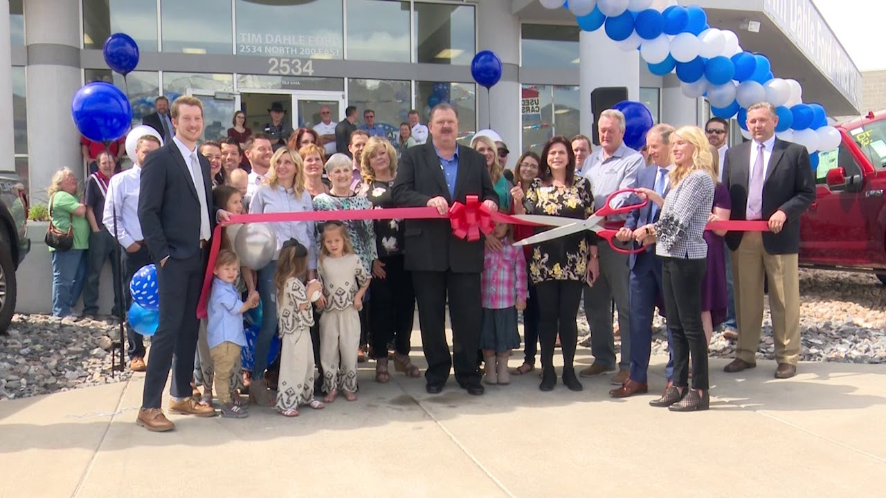 Tim Dahle Ford >> Chamber Of Commerce Ribbon Cutting Tim Dahle Ford 041018 Youtube