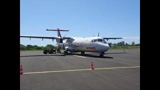 Air Tahiti ATR 72 Flight - Moorea Island to Tahiti, French Polynesia