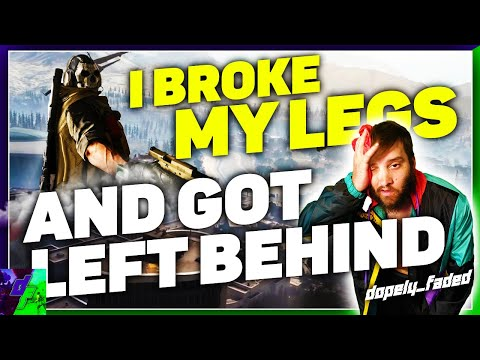 I broke my legs on Warzone and my Squad left me