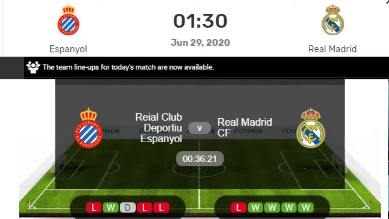 Espanyol vs. Real Madrid, La Liga Live Stream, Schedule, Starting ...