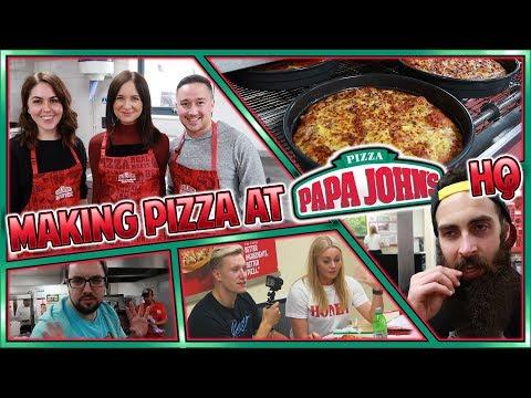 Making Pizza At Papa John
