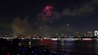 "Scene from Odaiba's ""Star Island"" fireworks (Part 1 of 4:"