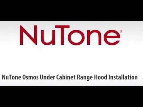 NuTone Osmos AHDA1, AHSA1 Single Blower Under-Cabinet Range Hood