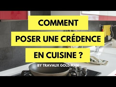 Comment pos une cr dence en cuisine youtube for Credence de hotte