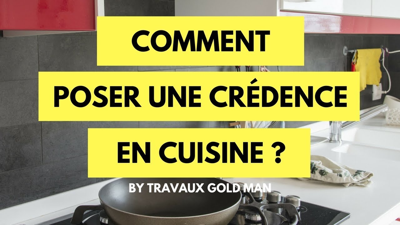 Comment pos une cr dence en cuisine youtube for Credence adhesive cuisine