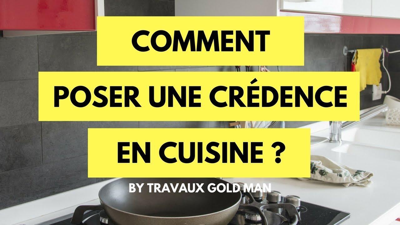 comment pose une credence en cuisine