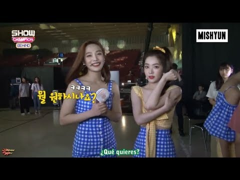 [SUB ESP] 180821 Red Velvet  'Power Up' En Show Champion Backstage