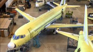 Russian aircraft factory production SSJ 100 / Русский завод-производство самолетов SSJ 100