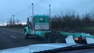 """1974 Kenworth A Model """"Big James"""" Heading to get new paint."""