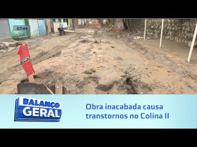 Conjunto Colina II: Chuva deixa moradores no prejuízo; motivo seria obra inacabada
