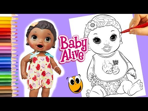 Snackin Lily Baby Alive Coloring Book Pages Dolls For Girls Baby