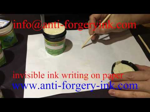 invisible ink writing on paper