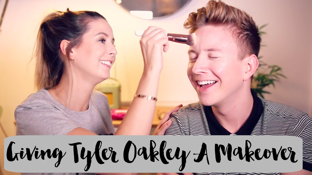 Giving Tyler Oakley A Makeover   Zoella - YouTube