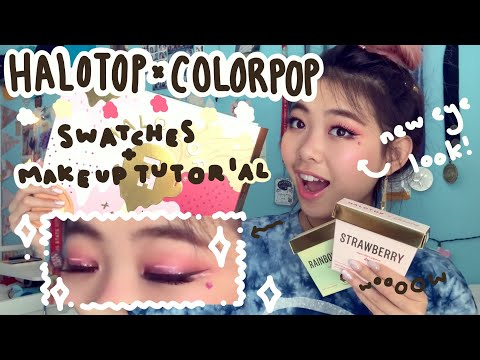 ICE CREAM MAKEUP?? | Swatches N Pinky Tutorial | Halotop X Colorpop Eyeshadows