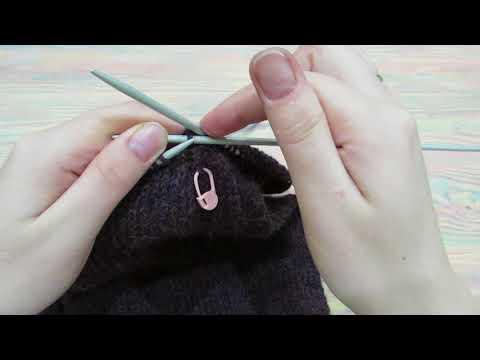 Закрытие шапки клиньями спицами видео
