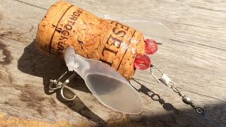 How to make Cicada Lure from Wine Cork(13)DIY Fishing - Ve Sầu Nút Chai Lure