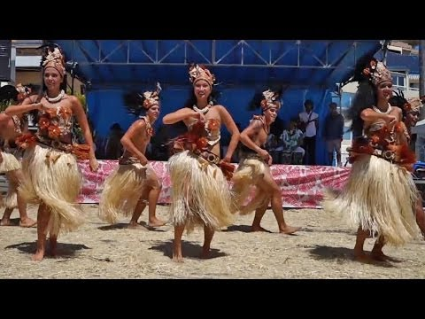 "Tahitian Drum Dance by ""Manahau"" dance group from Tahiti"