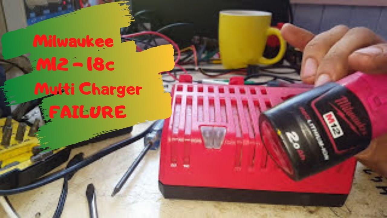 diagnosing a milwaukee m12 18c muliti charger failure milwaukee charger m12 wiring-diagram milwaukee m12 charger wiring diagram #7
