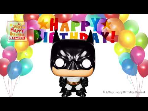 Batman sings happy birthday song greetings marvel heroes theme party