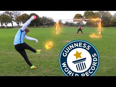 *NEW* WORLD RECORD!! FOOTBALL CHALLENGES