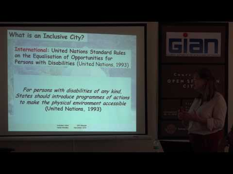 Lecture 7 Inclusive cities Helen Woolley Open spaces in cities , GIAN initiative