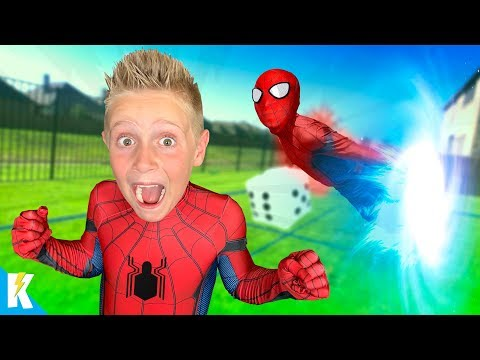 SPIDER-MAN Spider-verse GIANT Backyard Board Game For Kids! KIDCITY