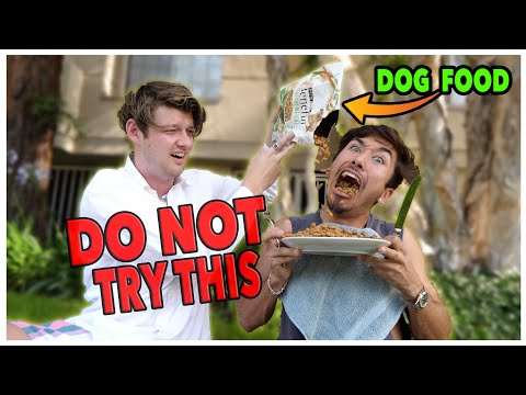 DO NOT eat DOG FOOD for 24 Hours!! *Impossible Food Challenge*