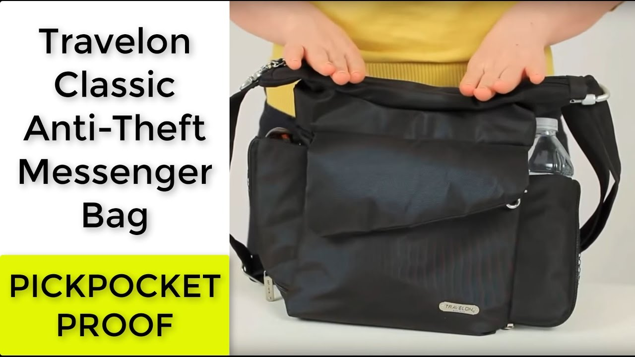 Travelon Classic Anti Theft Messenger Bag 42242