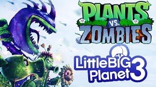 LittleBigPlanet 3 - Plants vs Zombies LBP Warfare - LBP3 PS4 Platformer