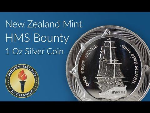New Zealand Mint HMS Bounty 1 Oz Silver Coin [Exclusive] Money Metals Exchange