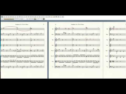 Mozart Symphony 25 (1st Movement) Finale Music Notation Software