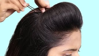 easy simple puff hairstyle || messy bun || beauty tips | upon hairstyles || beautiful bun hairstyles