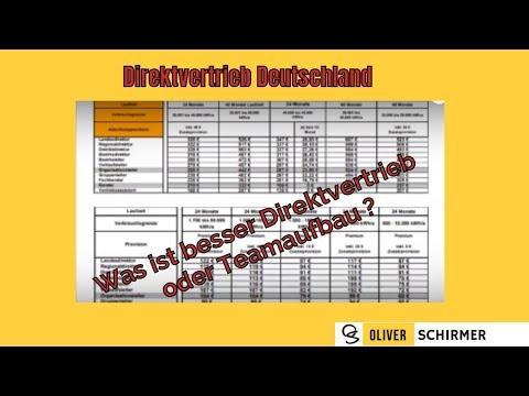 Direktvertrieb Deutschland - Was ist besser Direktvertrieb oder Teamaufbau ?