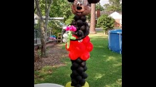 How to Make a Mickey Mouse Balloon Column for a Double Arch Decoration