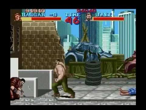 Final Fight (SNES) - Longplay - Haggar - Hardest Difficulty