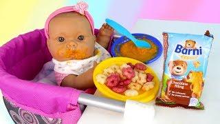 Кукла Пупсик #Бьянка Кушает Шоколадного Мишку Цветные Звёздочки Играем в куклы Как Мама