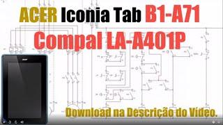 Download Esquema Elétrico Tablet  ACER Iconia Tab B1 A71 Compal LA A401P