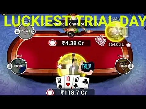 Luckiest TRIAL day in Classic teen patti gold