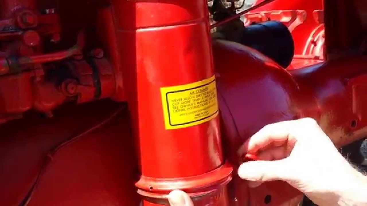 Farmall B A Air Filter Preventive Maintenance Oil Change Antique 300 Utility Wiring Diagram Vintage Tractors