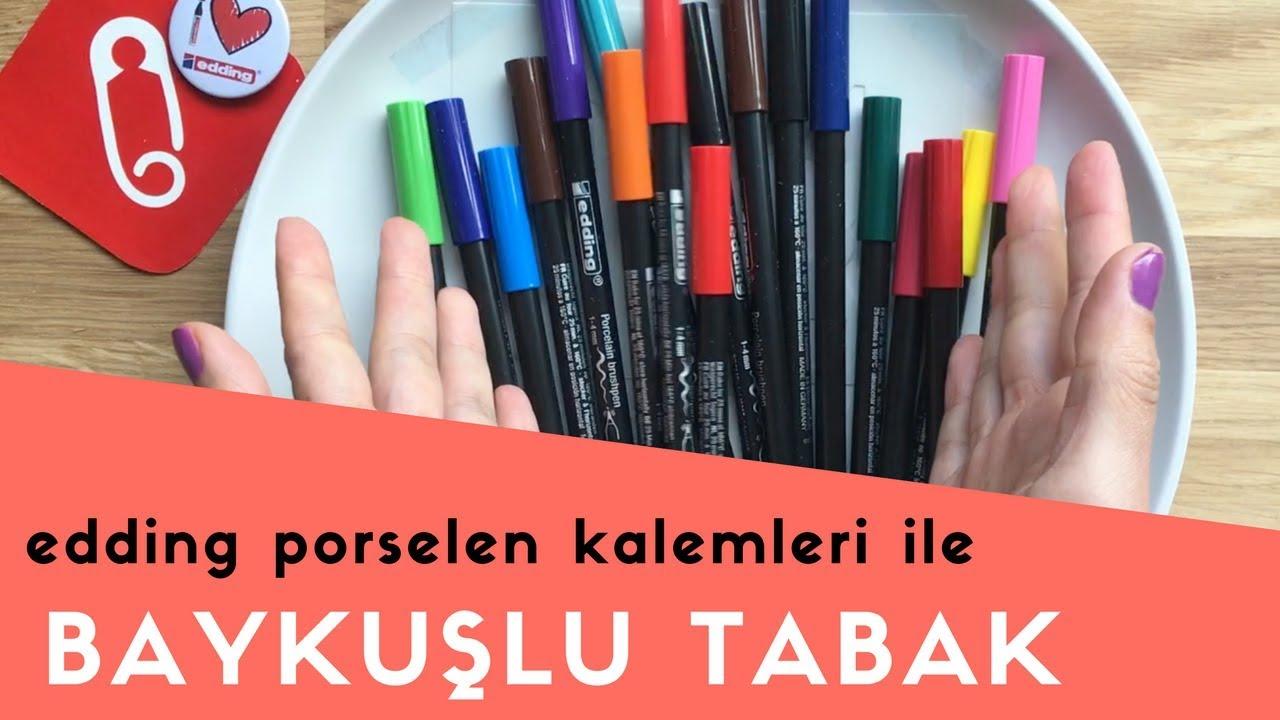 Porselen Tabak Boyama Baykuş Desenli 10marifet Youtube