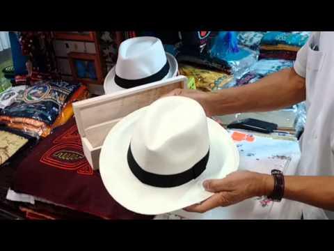 wie man einen Panama Hut zusammenlegt