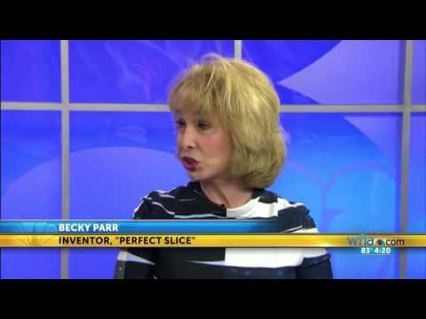 Becky Parr on Tampa's WFLA-TV speaking about Perfect Slice Bakeware by BergHOFF 4-11-16