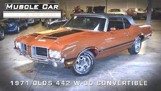 Muscle Car Of The Week Video #33: 1971 Olds Cutlass 442 W30 Convertible
